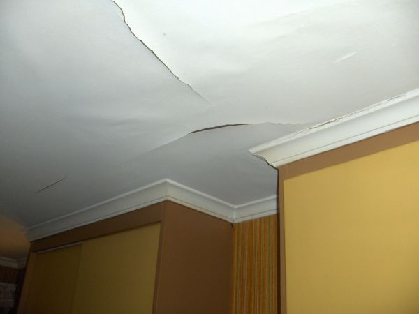 Ceiling after water leak