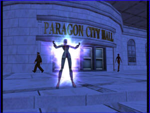 Screenshot City of Heroes, approx. 2004