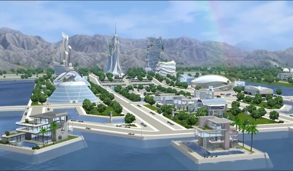 Oasis Landing, Sims 3: Into the Future