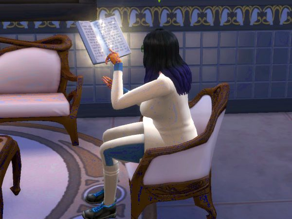 Screenshot Sims 4 Realm of Magic - floating glowing book